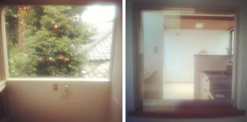 小窓から見える景色
