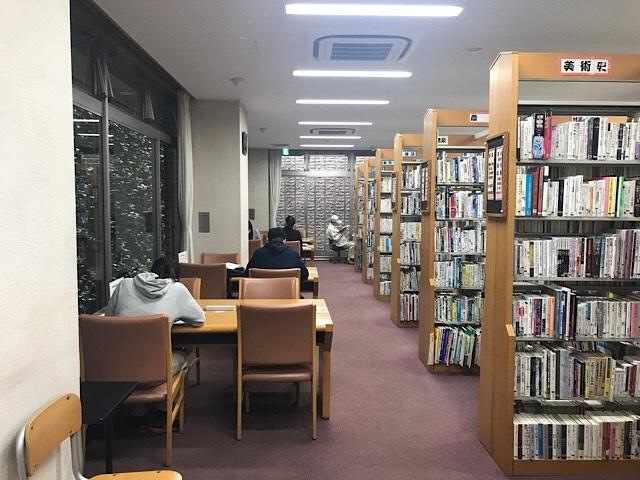 守屋図書館 地下自習スペース