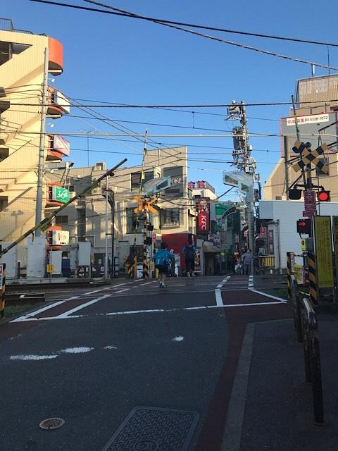 旗の台駅 商店街入口の踏切