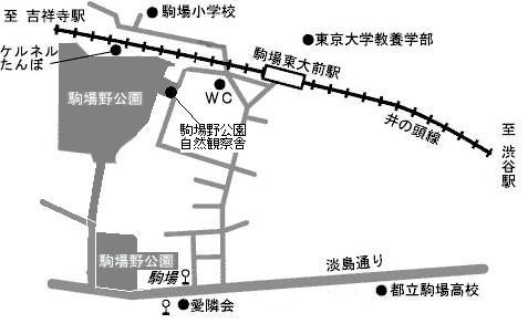 駒場野公園 案内図